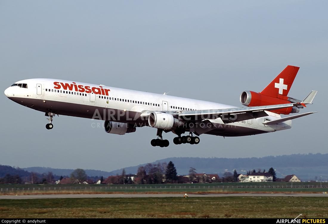 Swissair HB-IWD aircraft at Zurich