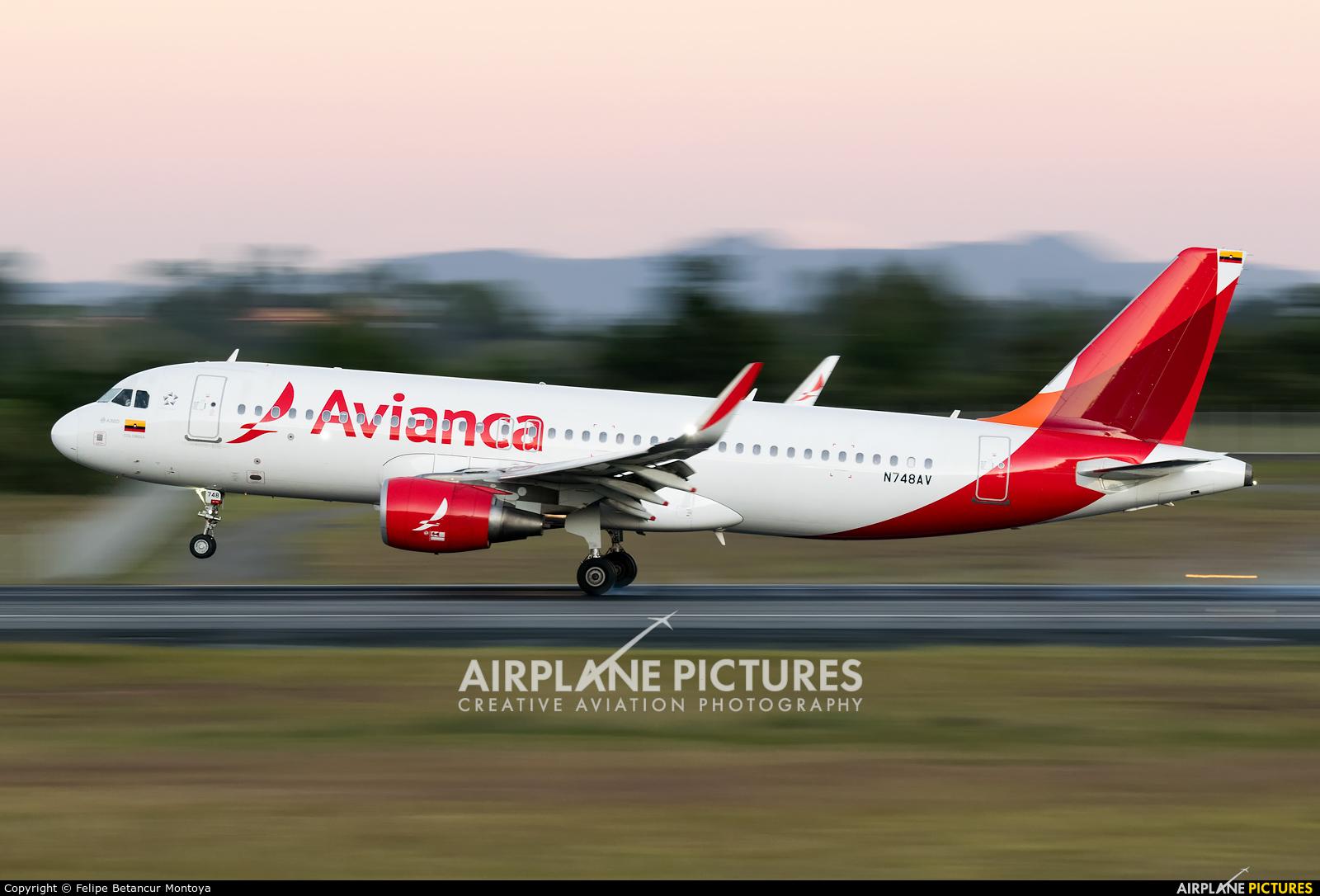 Avianca N748AV aircraft at Medellin - Jose Maria Cordova Intl