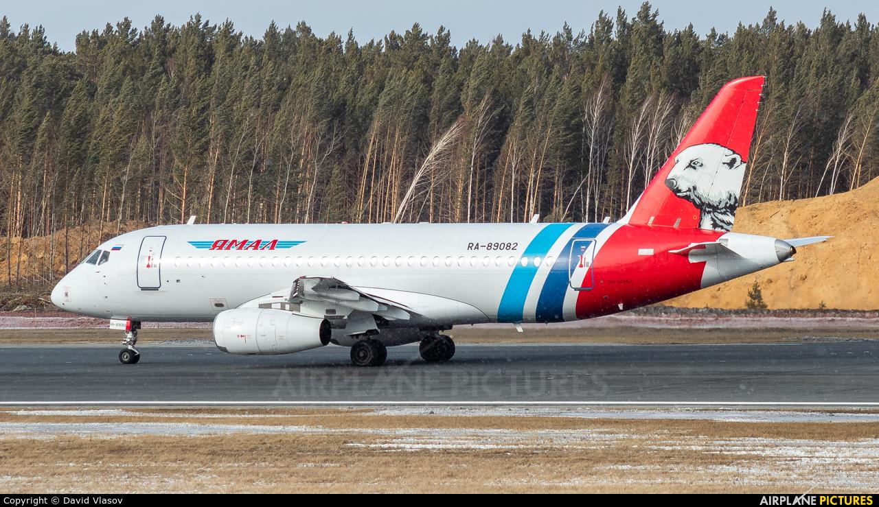 Yamal Airlines RA-89082 aircraft at Krasnoyarsk - Yemelyanovo