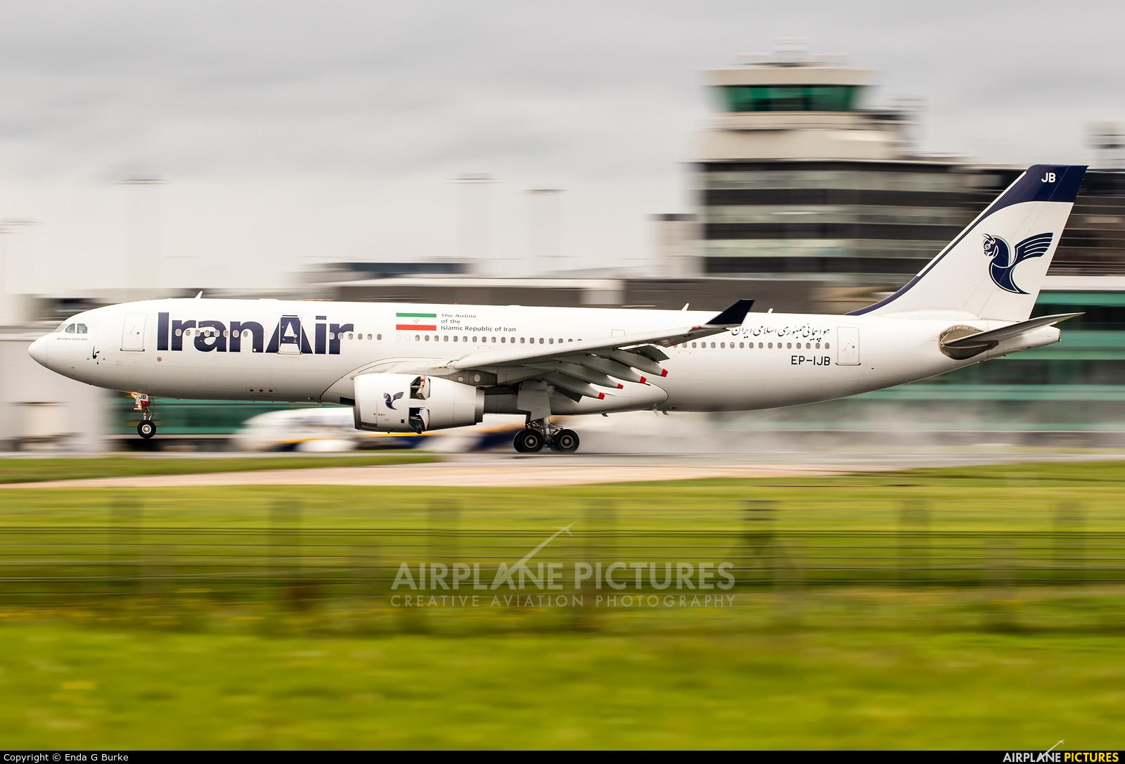 Iran Air EP-IJB aircraft at Manchester