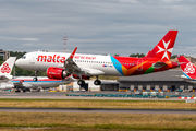 Rare visit of Air Malta A320neo to Luxembourg title=