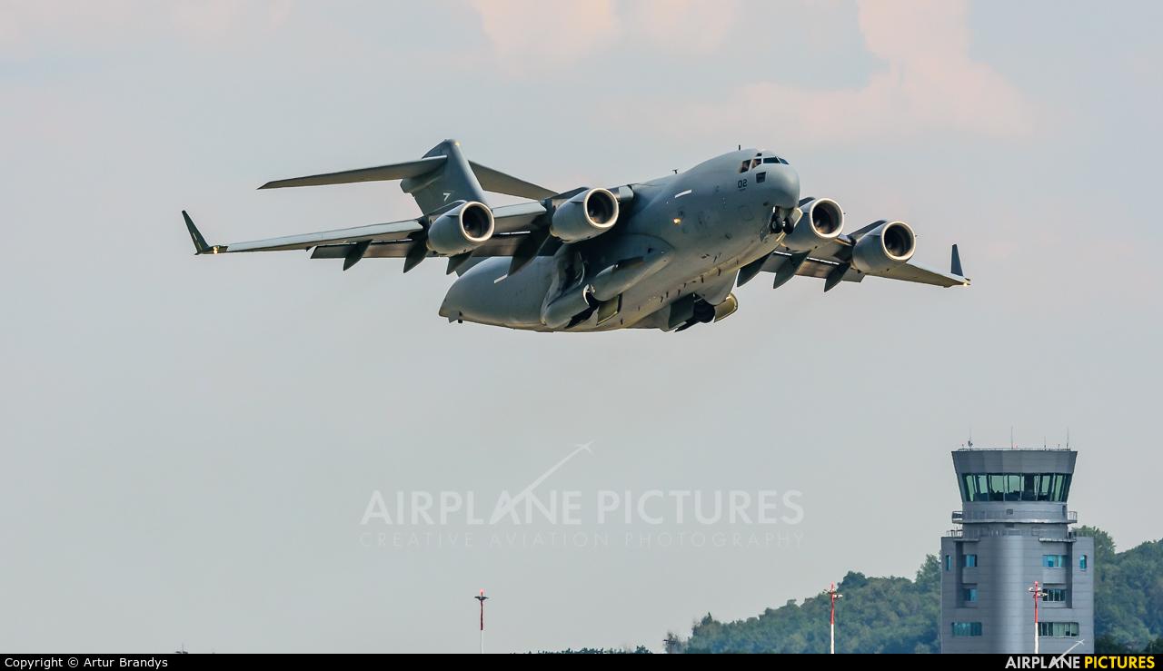 Strategic Airlift Capability NATO 08-0002 aircraft at Kraków - John Paul II Intl