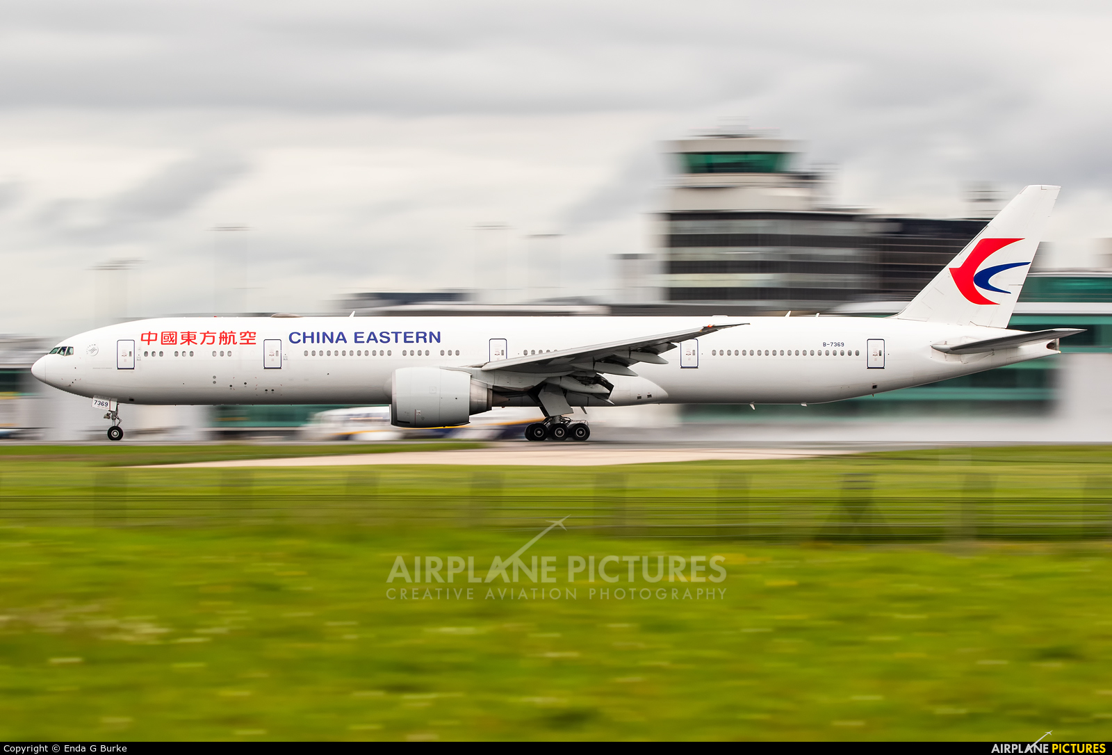China Eastern Airlines B-7369 aircraft at Manchester