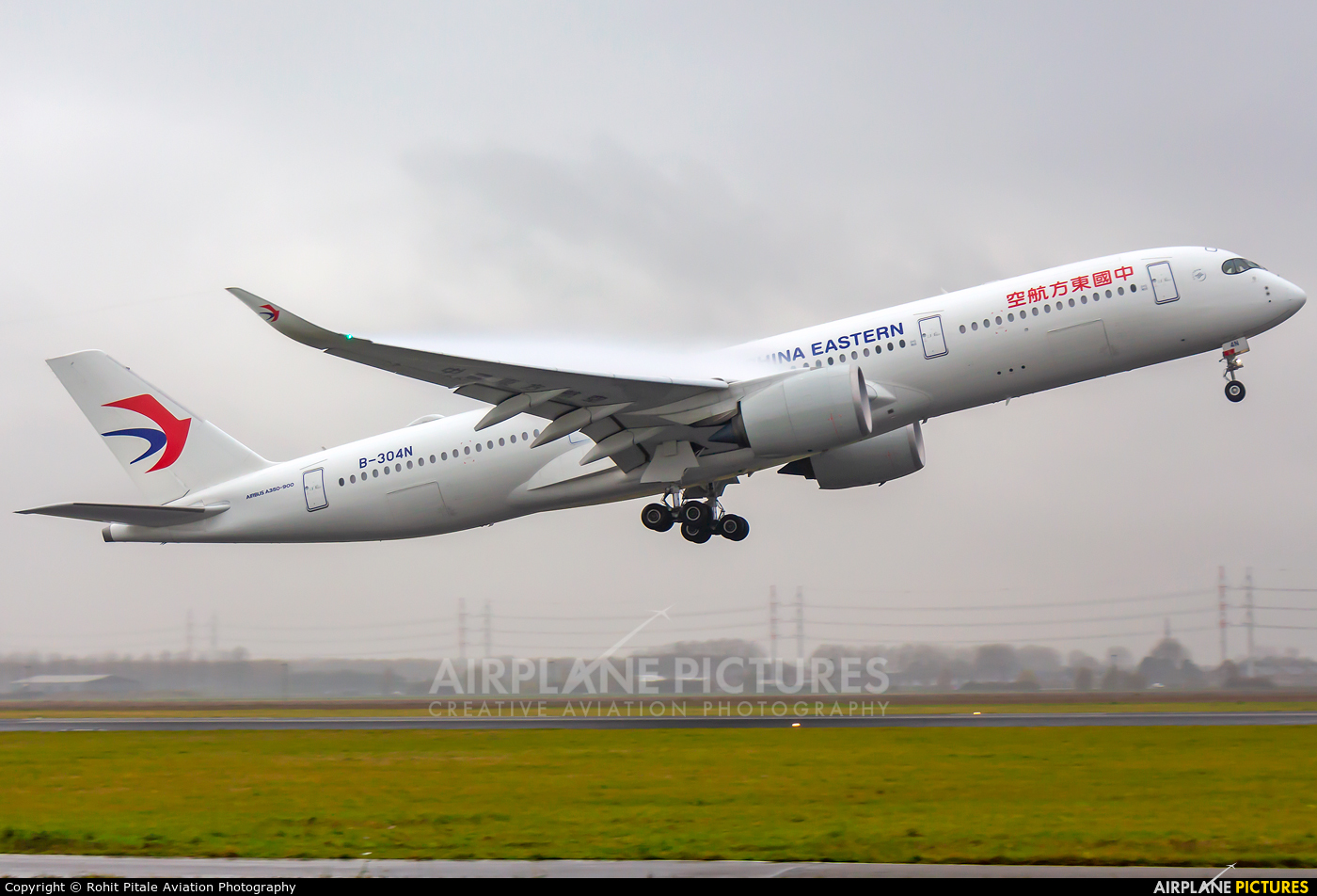 China Eastern Airlines B-304N aircraft at Amsterdam - Schiphol