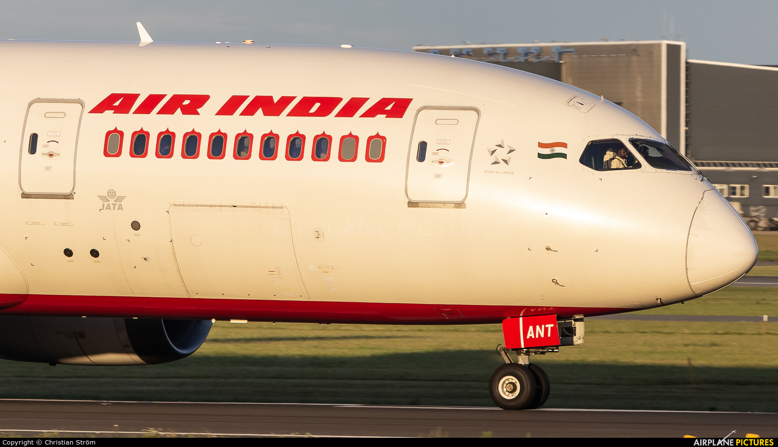 Air India VT-ANT aircraft at Copenhagen Kastrup