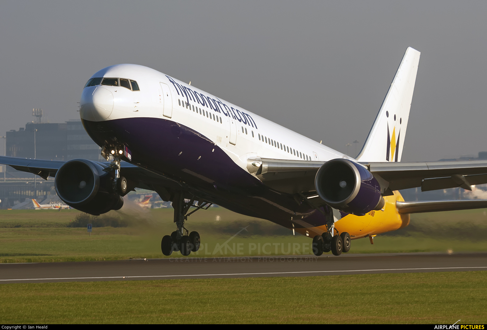 Monarch Airlines G-DIMB aircraft at Manchester