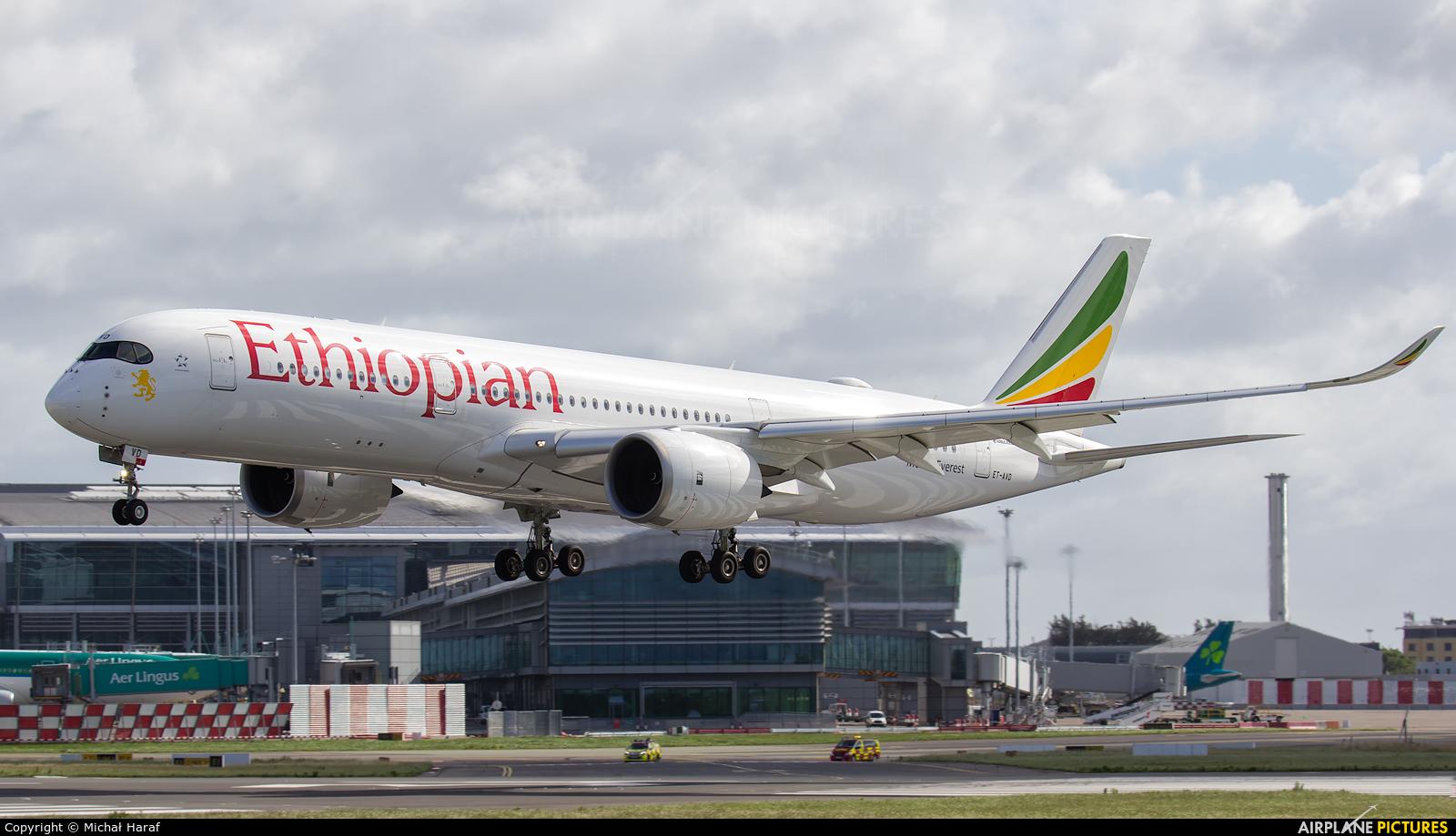 Ethiopian Airlines ET-AVD aircraft at Dublin