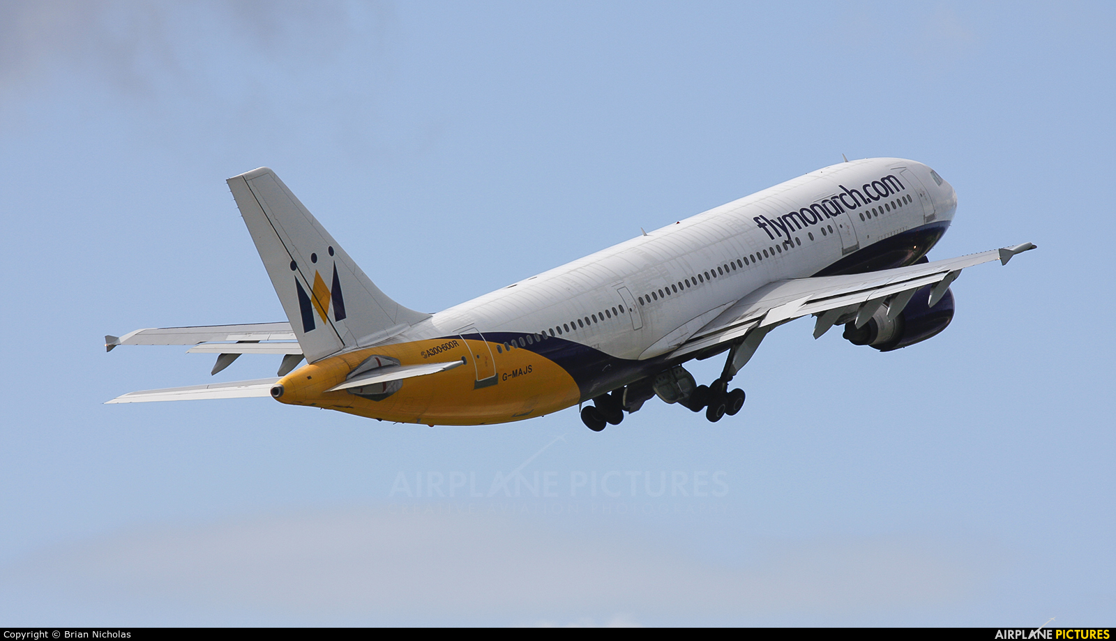 Monarch Airlines G-MAJS aircraft at Manchester