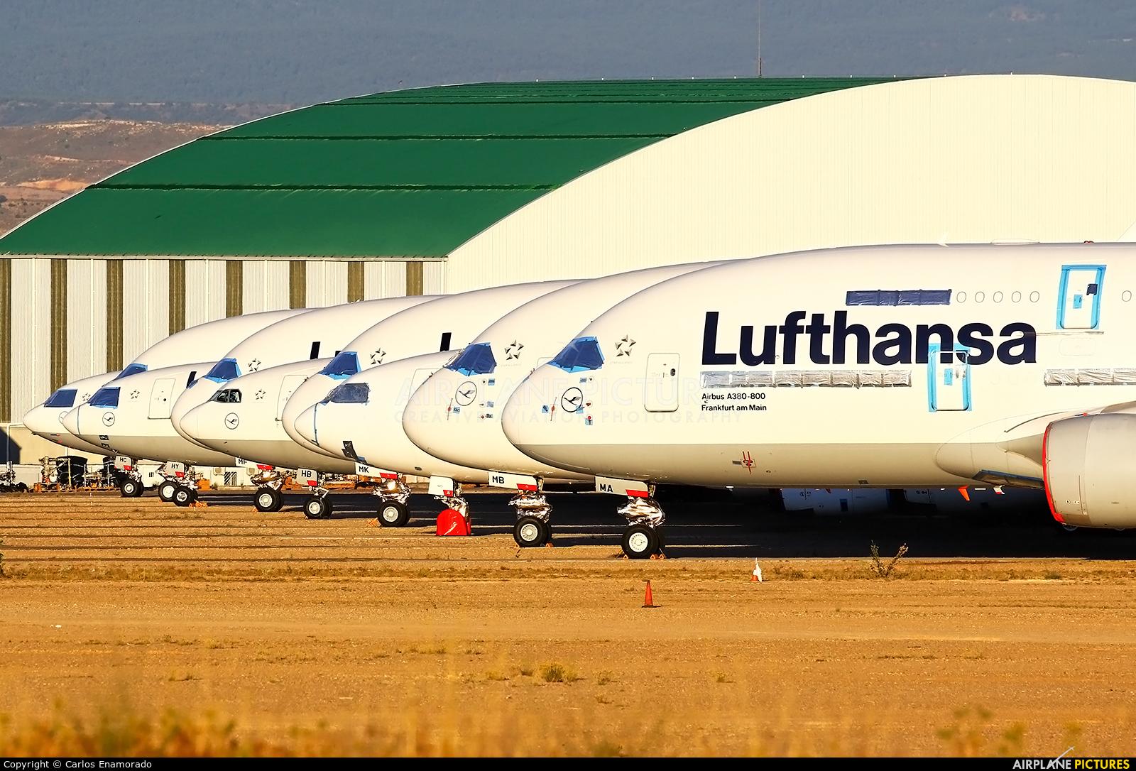 Lufthansa D-AIMA aircraft at Teruel