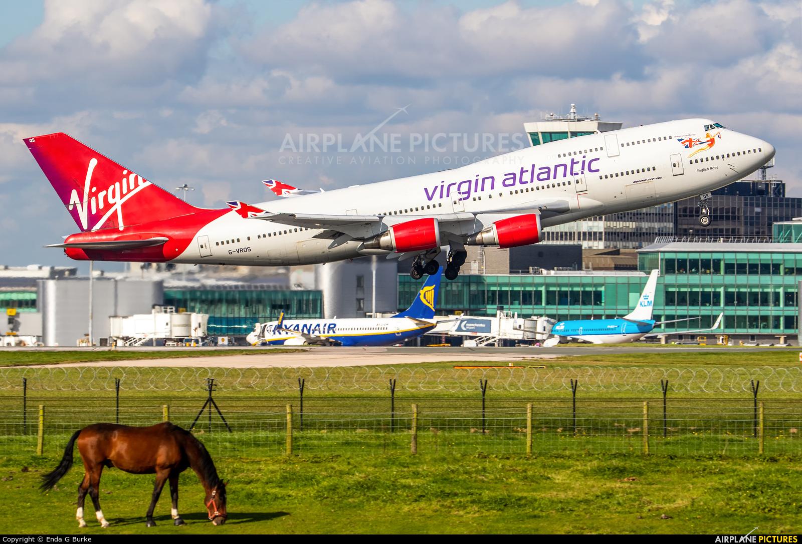 Virgin Atlantic G-VROS aircraft at Manchester