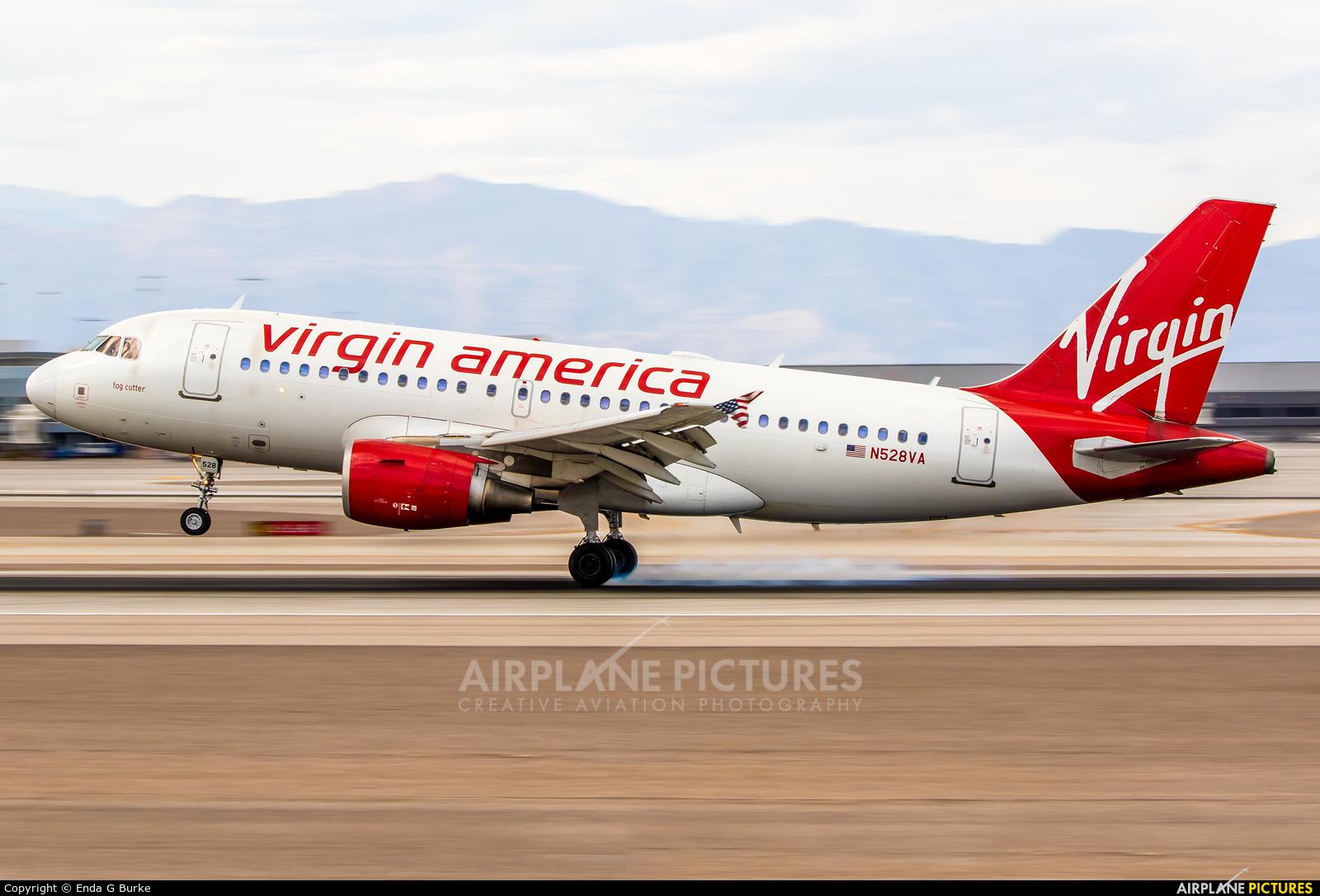 Virgin America N528VA aircraft at Las Vegas - McCarran Intl