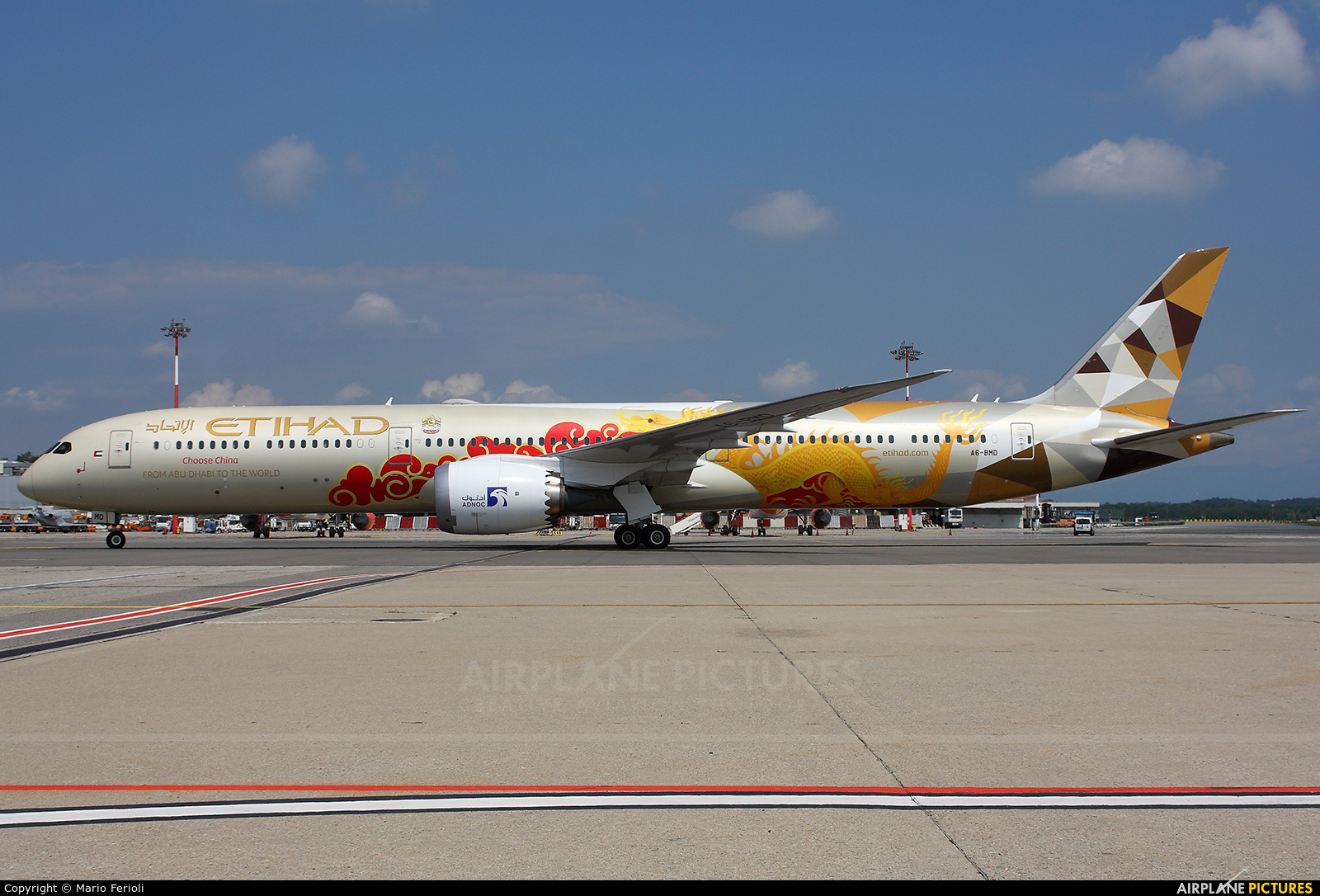 Etihad Airways A6-BMD aircraft at Milan - Malpensa