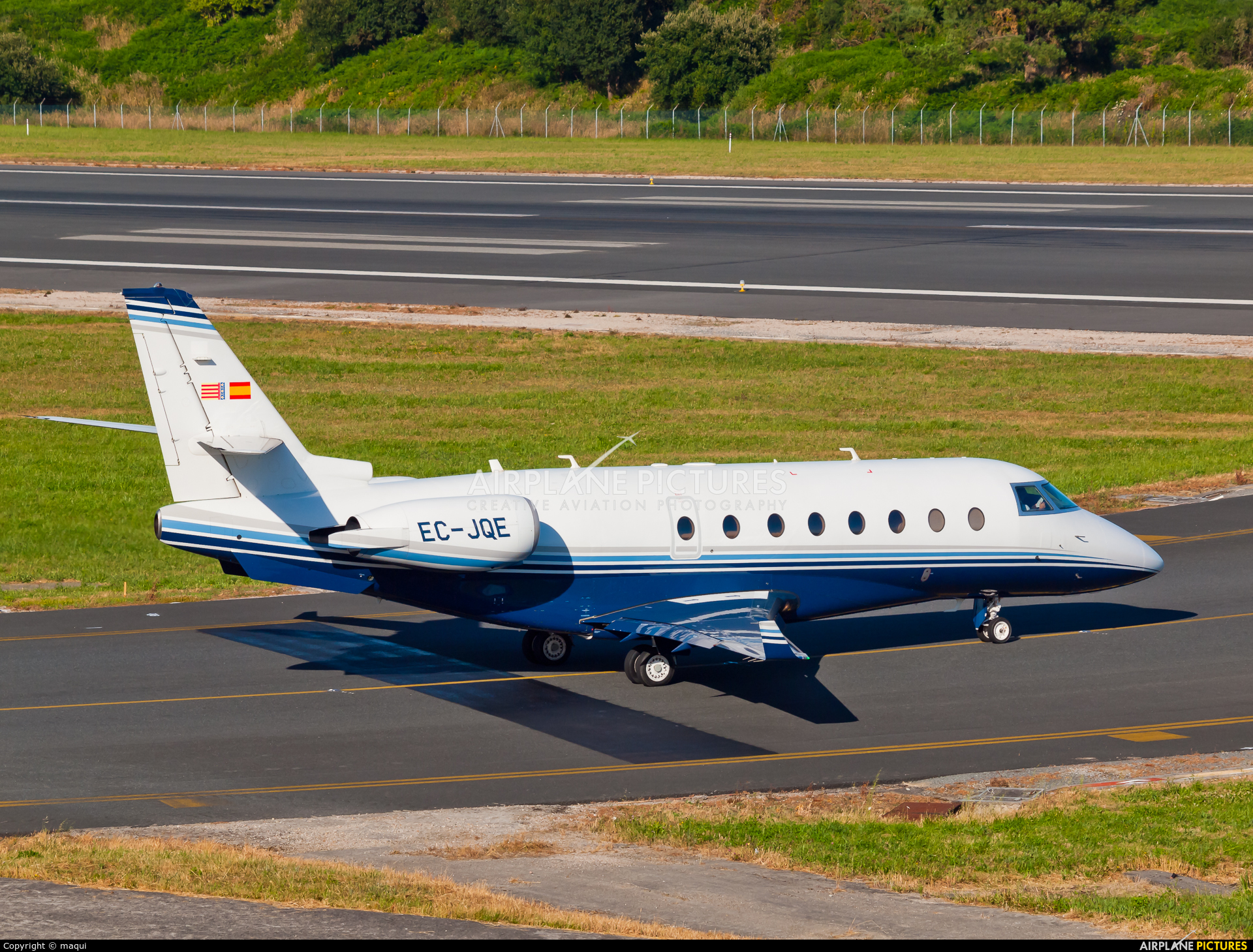 Private EC-JQE aircraft at La Coruña