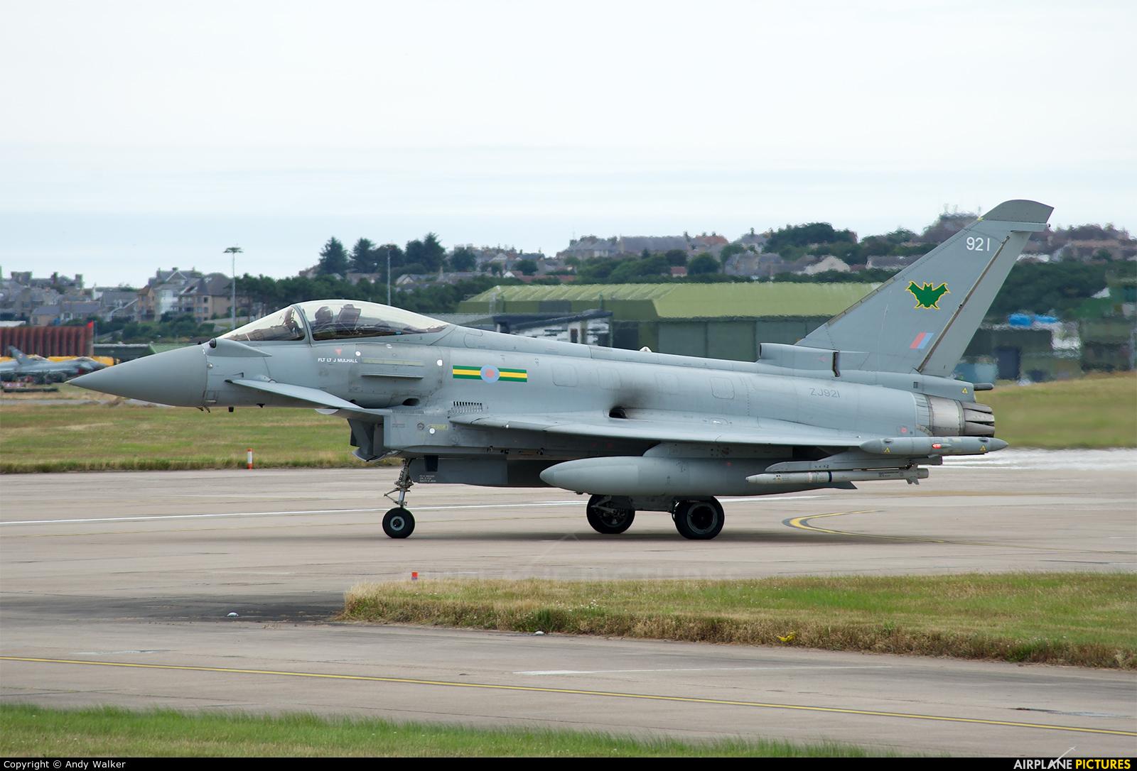 Royal Air Force ZJ921 aircraft at Lossiemouth
