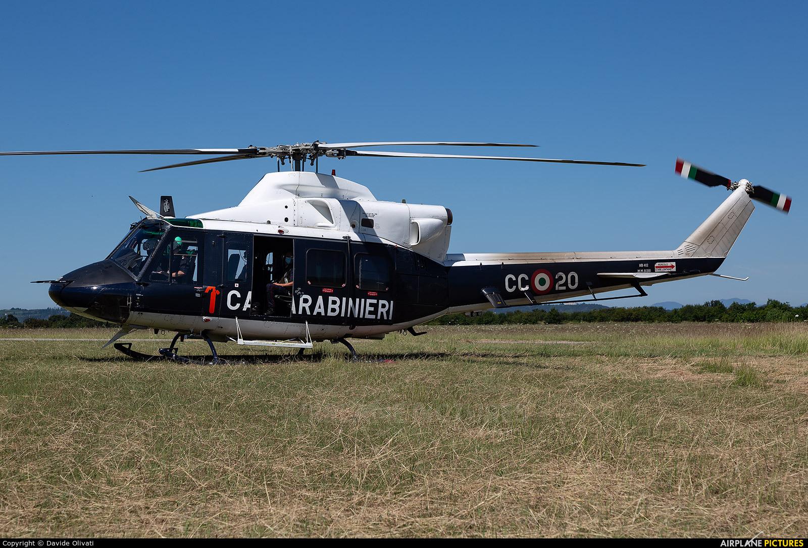 Italy - Carabinieri MM81381 aircraft at Verona - Boscomantico