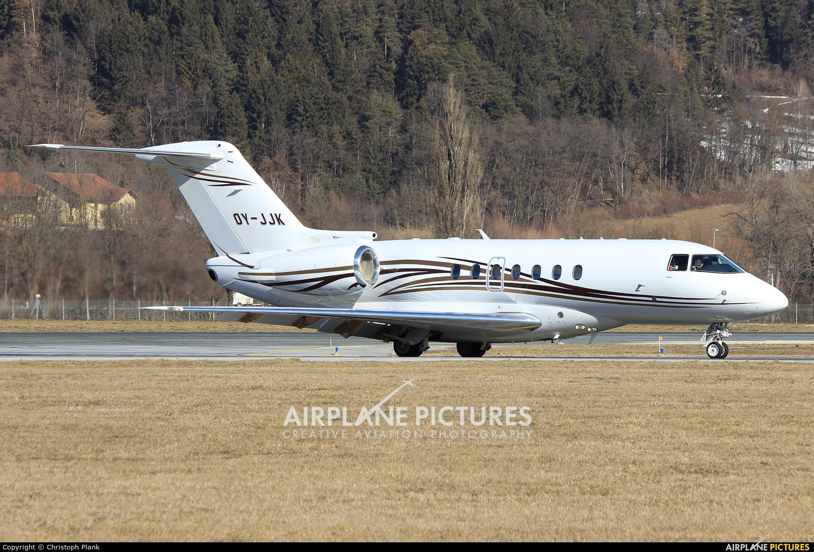 Sun Air OY-JJK aircraft at Innsbruck