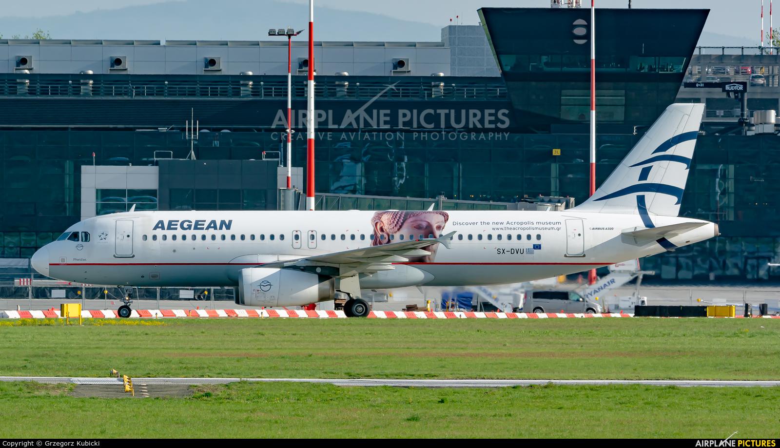 Aegean Airlines SX-DVU aircraft at Kraków - John Paul II Intl