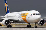 Rare visit of Mongolian Boeing 767 to Prague title=