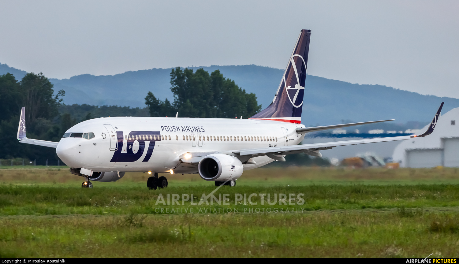 LOT - Polish Airlines SP-LWG aircraft at Ostrava Mošnov