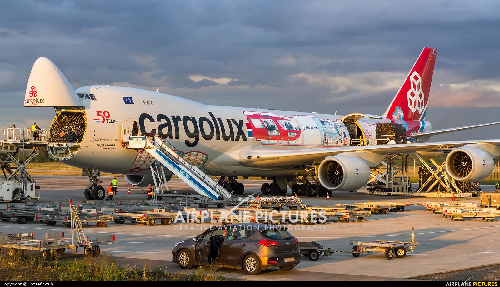 Cargolux LX-VCM aircraft at Budapest Ferenc Liszt International Airport