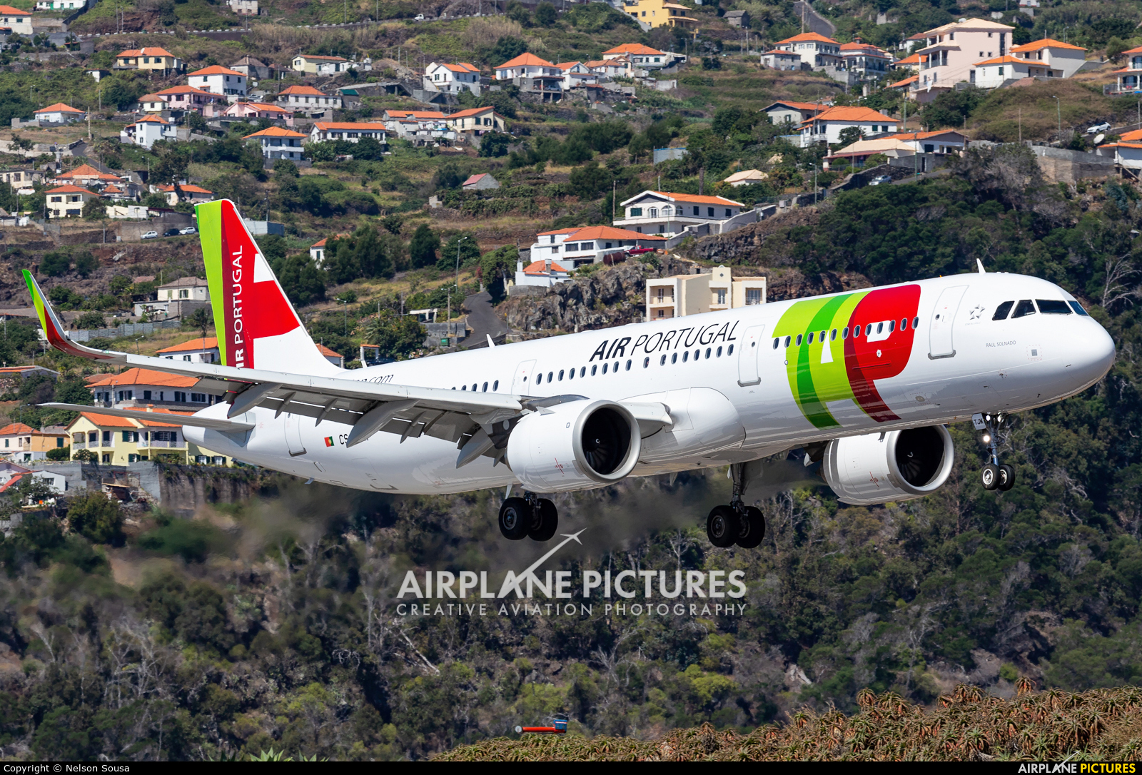 TAP Portugal CS-TJM aircraft at Madeira