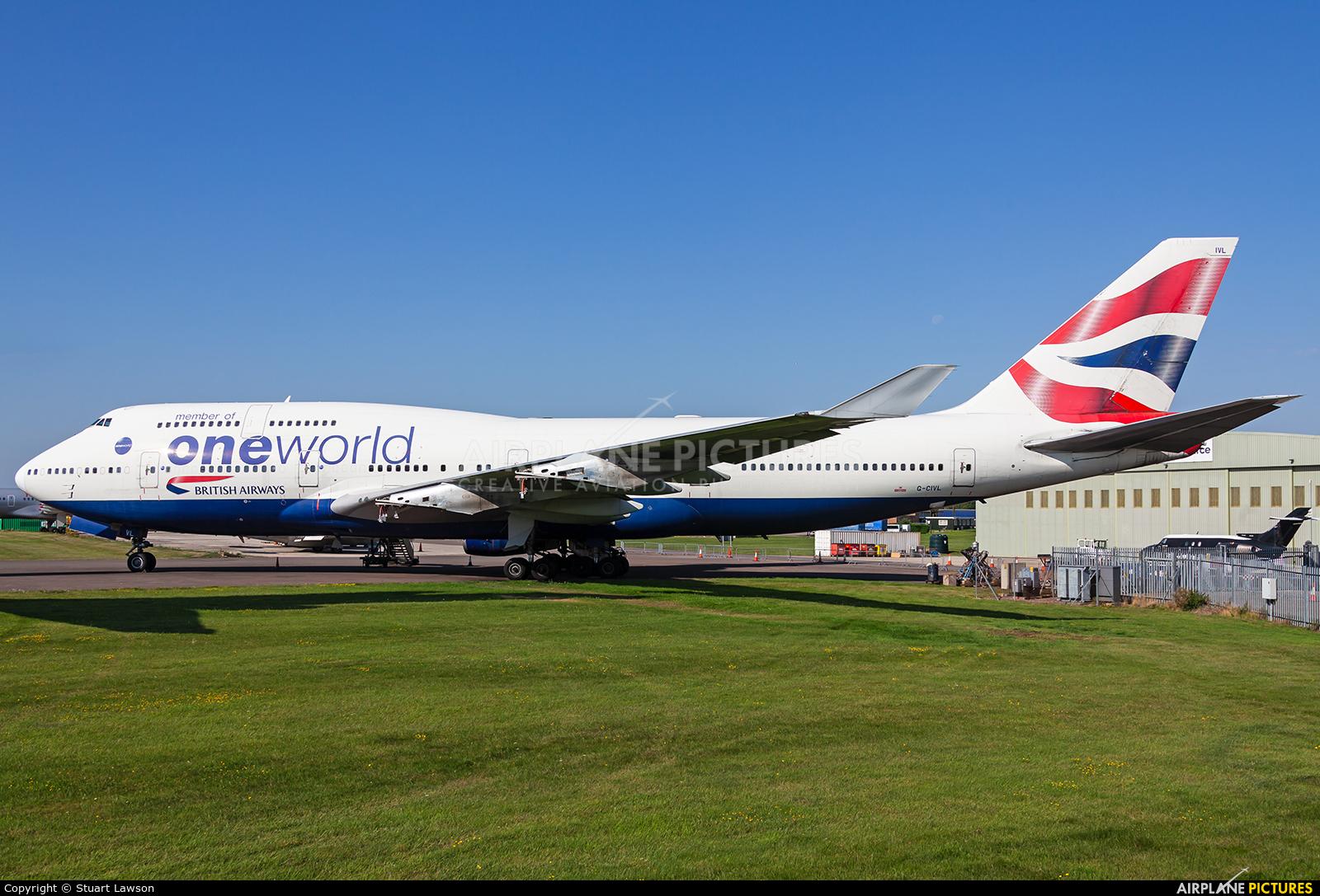 British Airways G-CIVL aircraft at Kemble