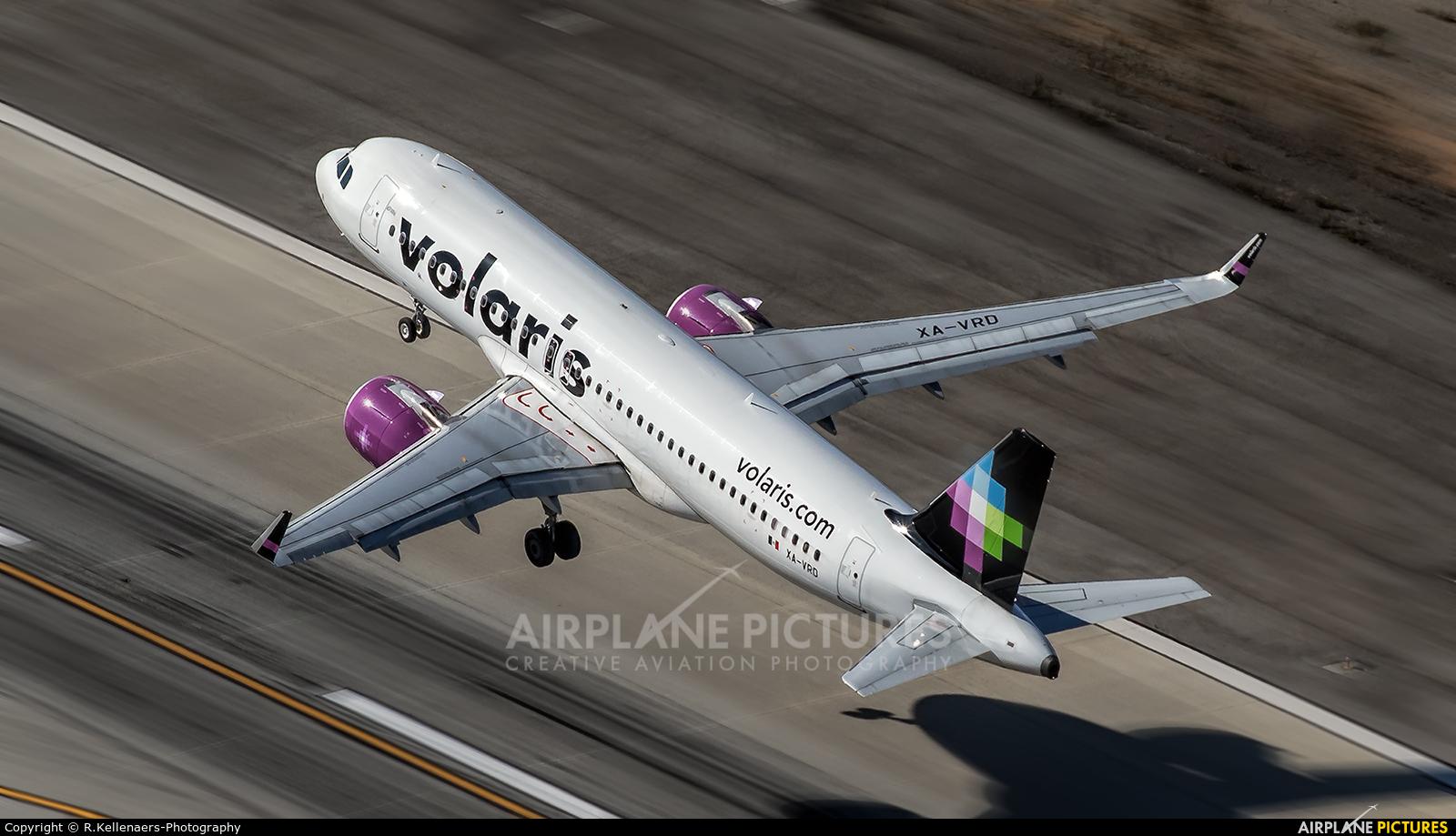 Volaris XA-VRD aircraft at Los Angeles Intl