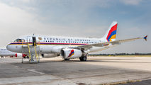 New livery of the Armenian Government A319 title=