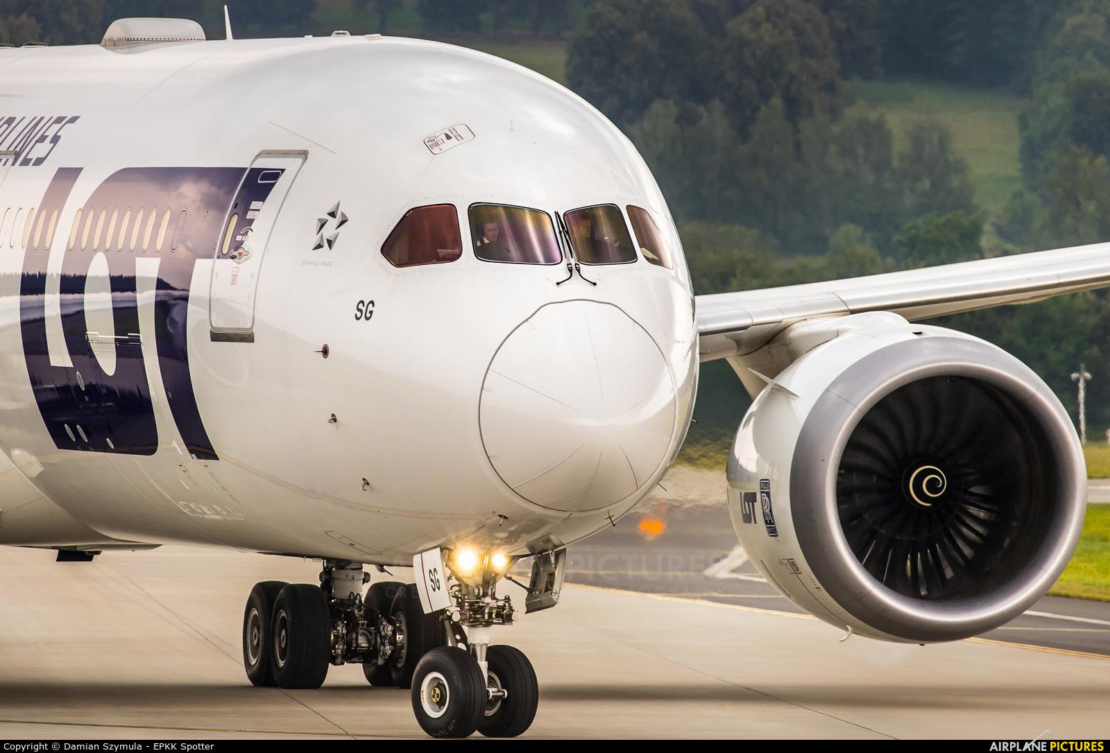 LOT - Polish Airlines SP-LSG aircraft at Kraków - John Paul II Intl