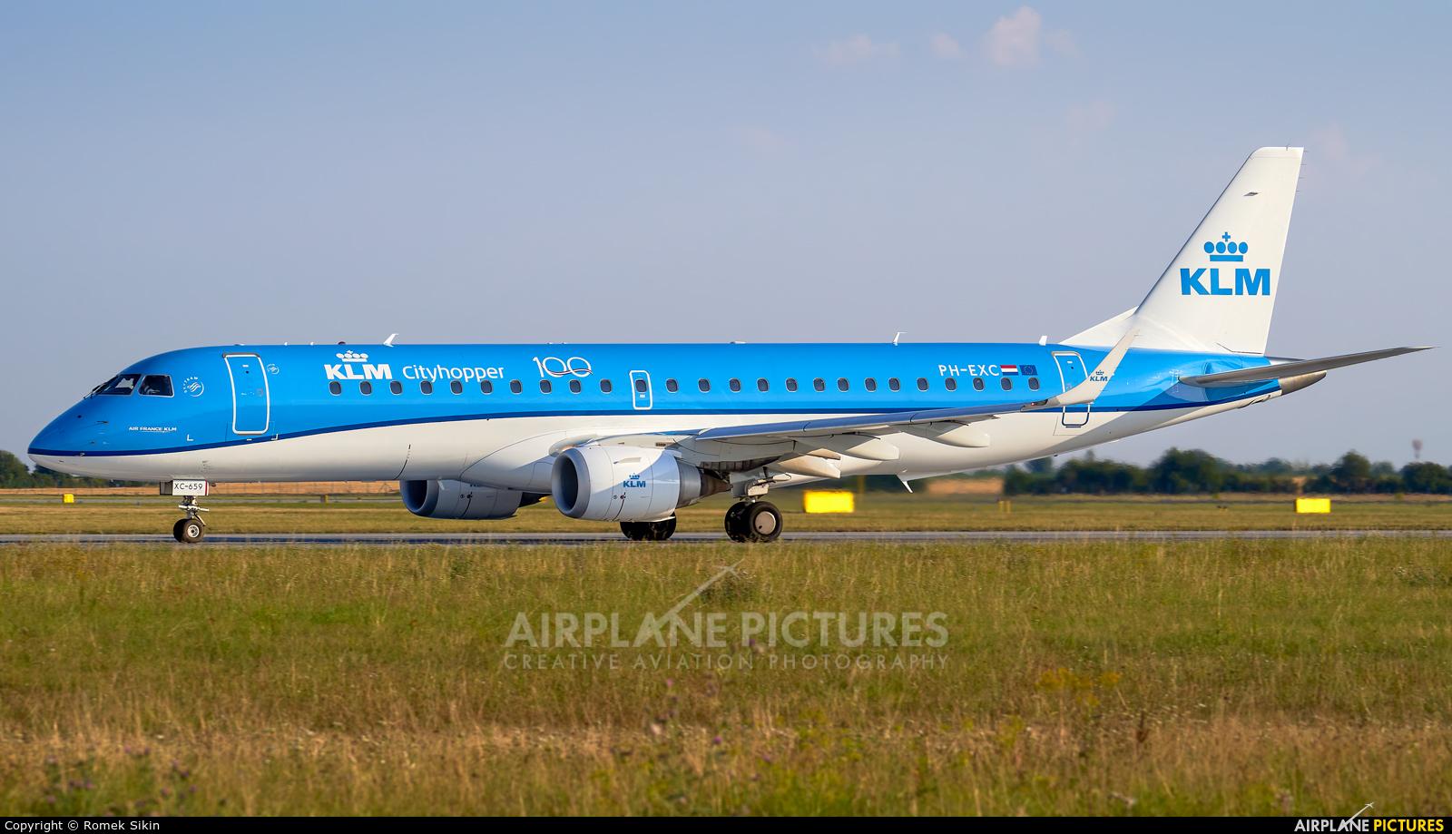 KLM Cityhopper PH-EXC aircraft at Prague - Václav Havel