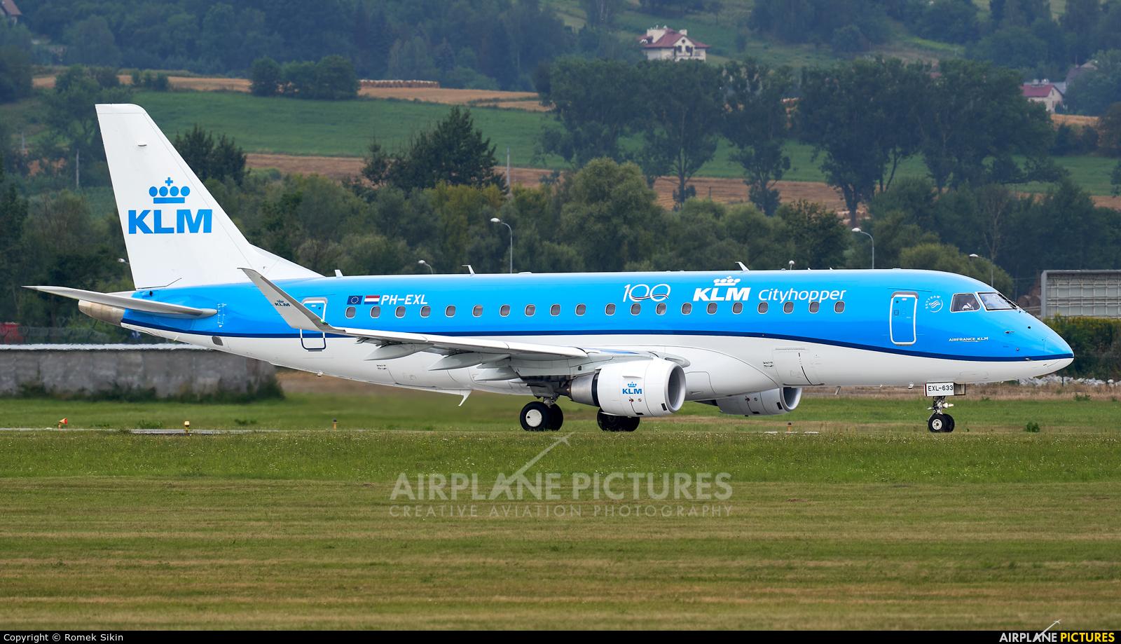KLM Cityhopper PH-EXL aircraft at Kraków - John Paul II Intl