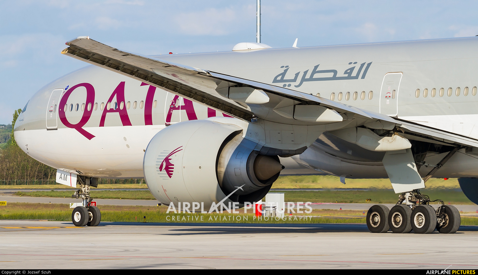 Qatar Airways A7-BAM aircraft at Budapest Ferenc Liszt International Airport