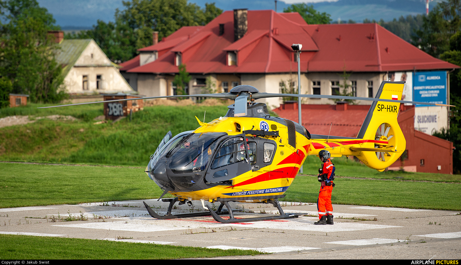 Polish Medical Air Rescue - Lotnicze Pogotowie Ratunkowe SP-HXR aircraft at Nowy Targ