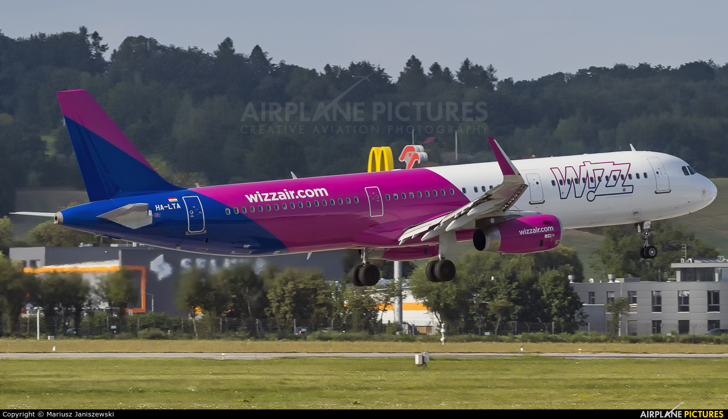 Wizz Air HA-LTA aircraft at Kraków - John Paul II Intl