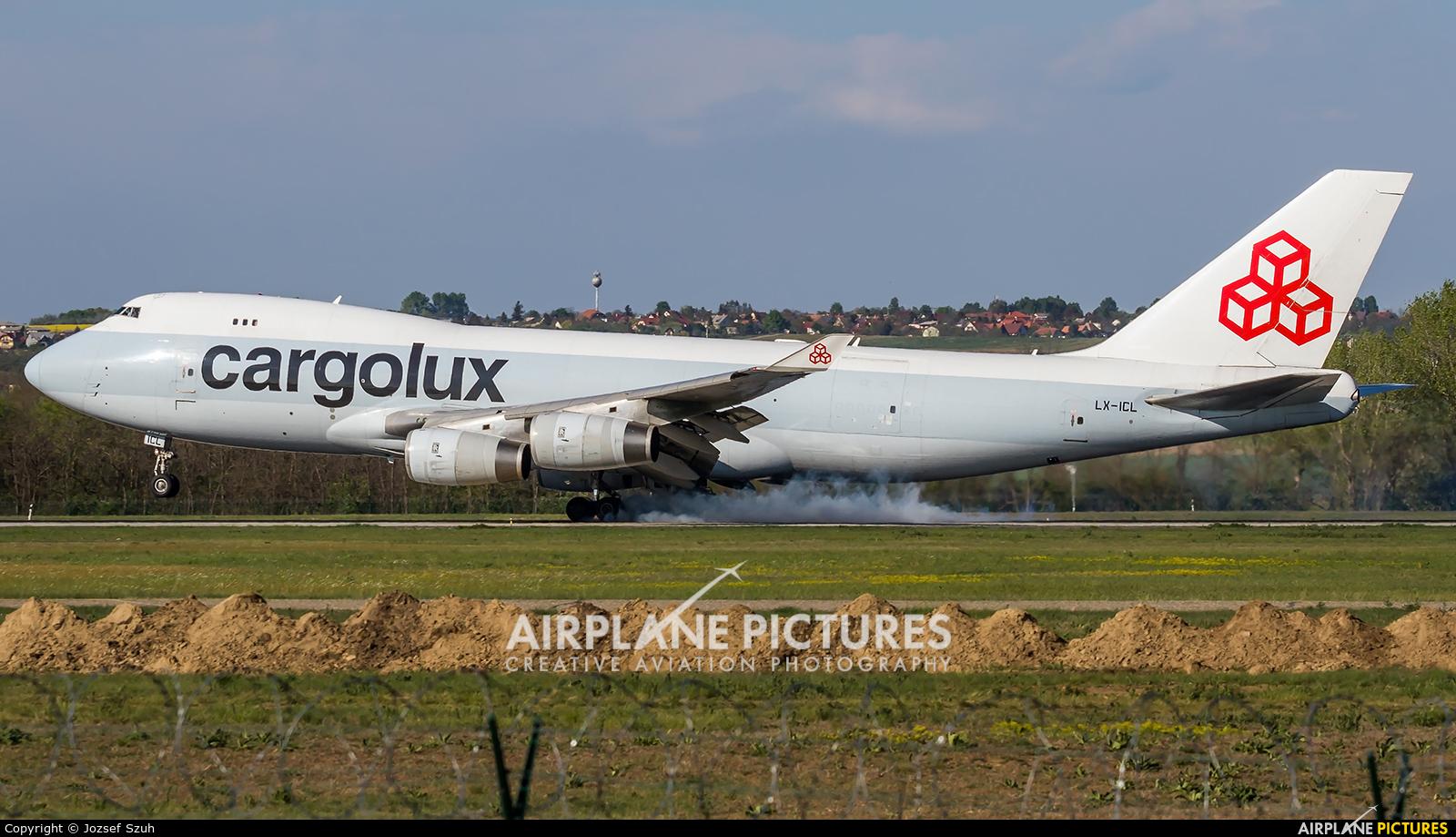Cargolux LX-ICL aircraft at Budapest Ferenc Liszt International Airport