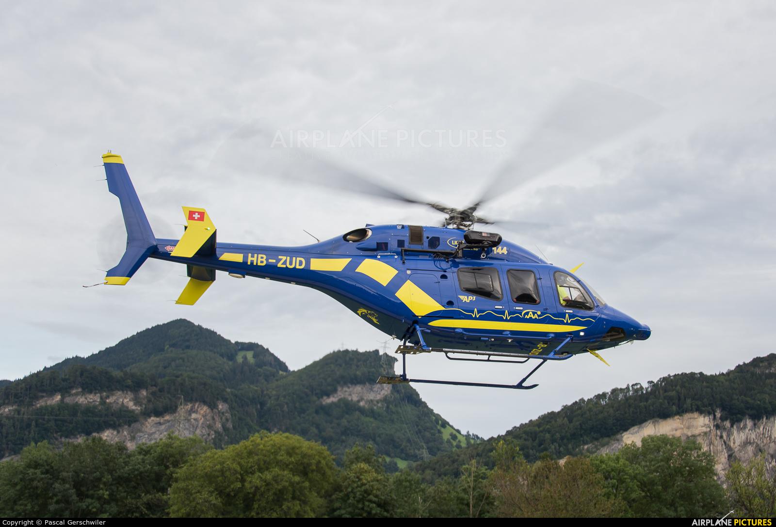 Lions Air HB-ZUD aircraft at Balzers heliport