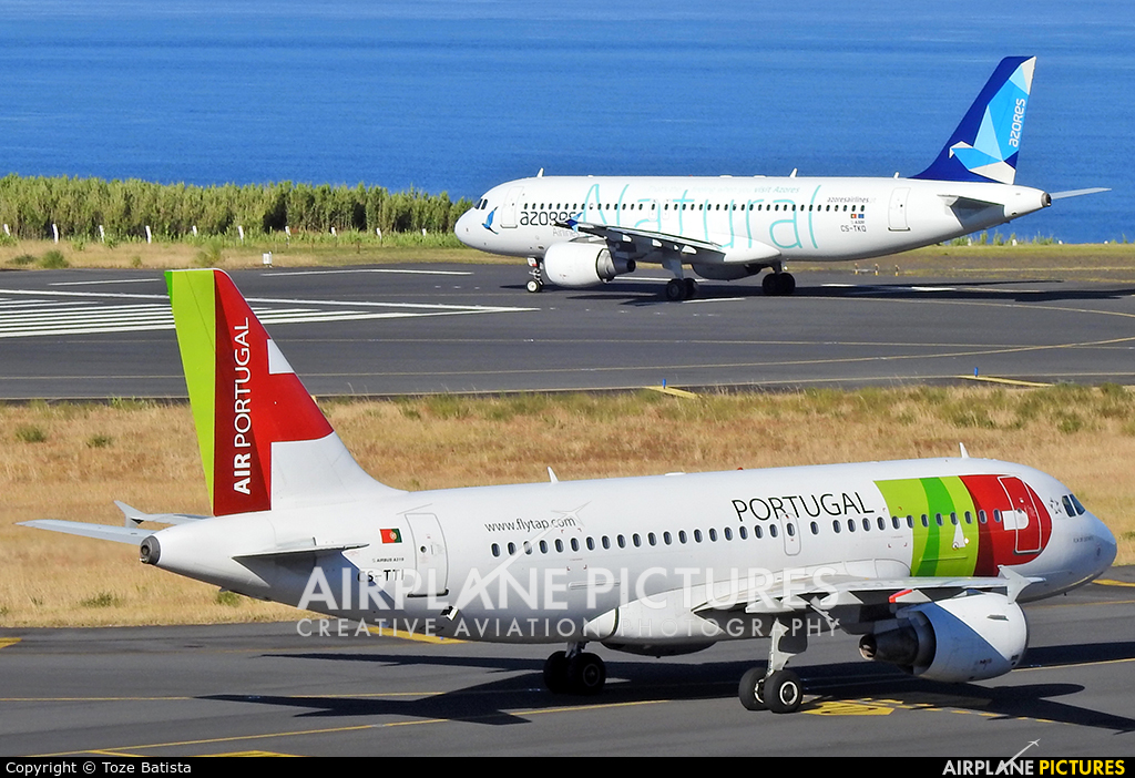 TAP Portugal CS-TTI aircraft at Azores - Ponta Delgada