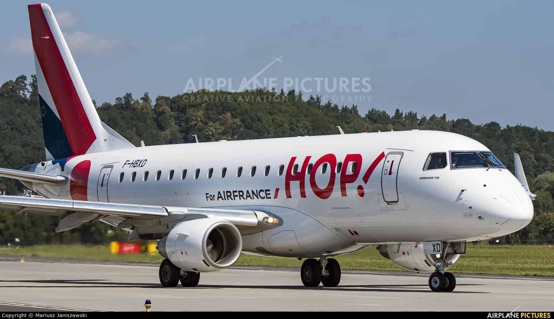 Air France - Hop! F-HBXD aircraft at Kraków - John Paul II Intl