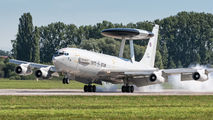 Boeing E-3A of NATO on crew training in Pardubice title=