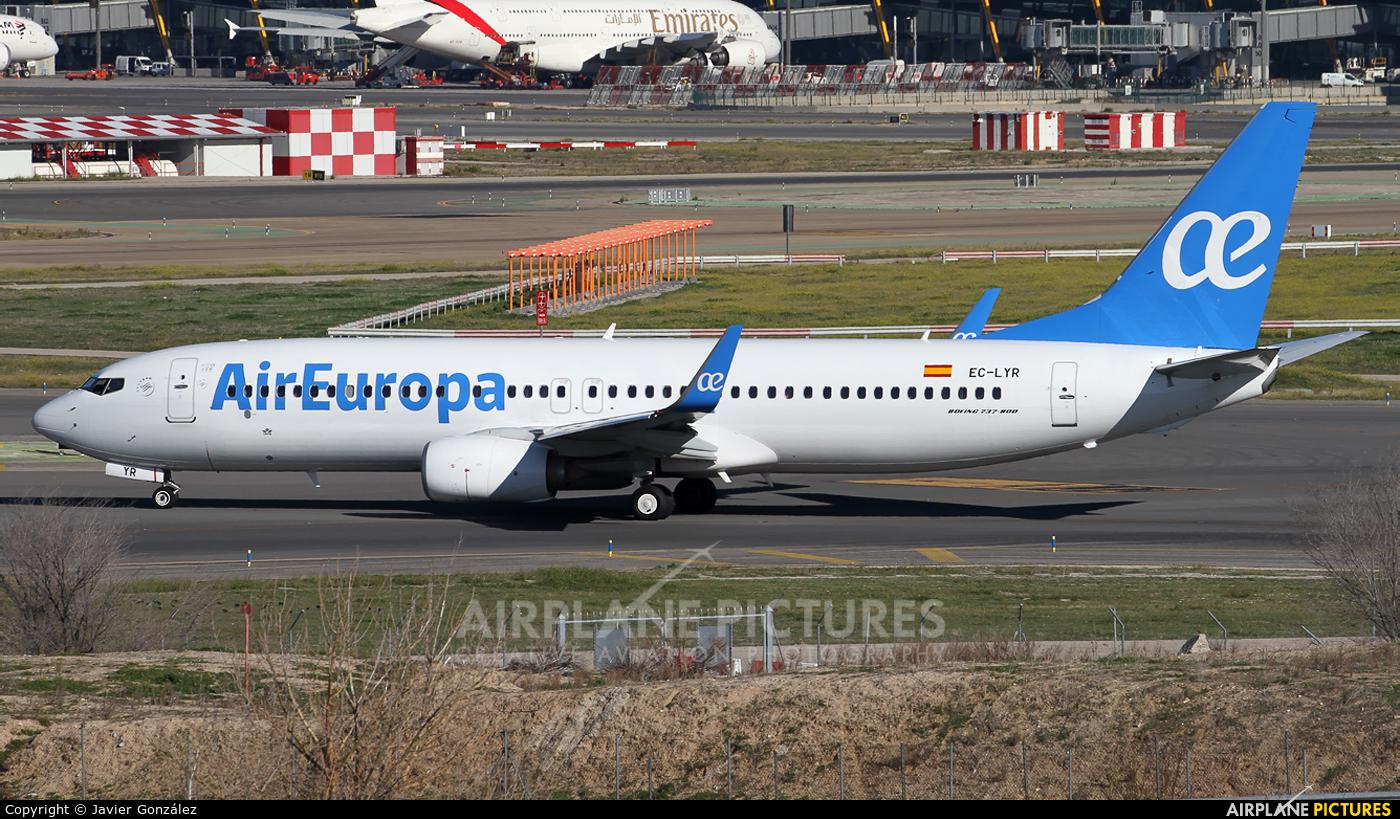 Air Europa EC-LYR aircraft at Madrid - Barajas