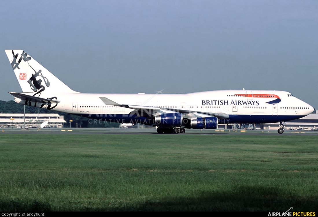 British Airways G-BYGG aircraft at Singapore - Changi