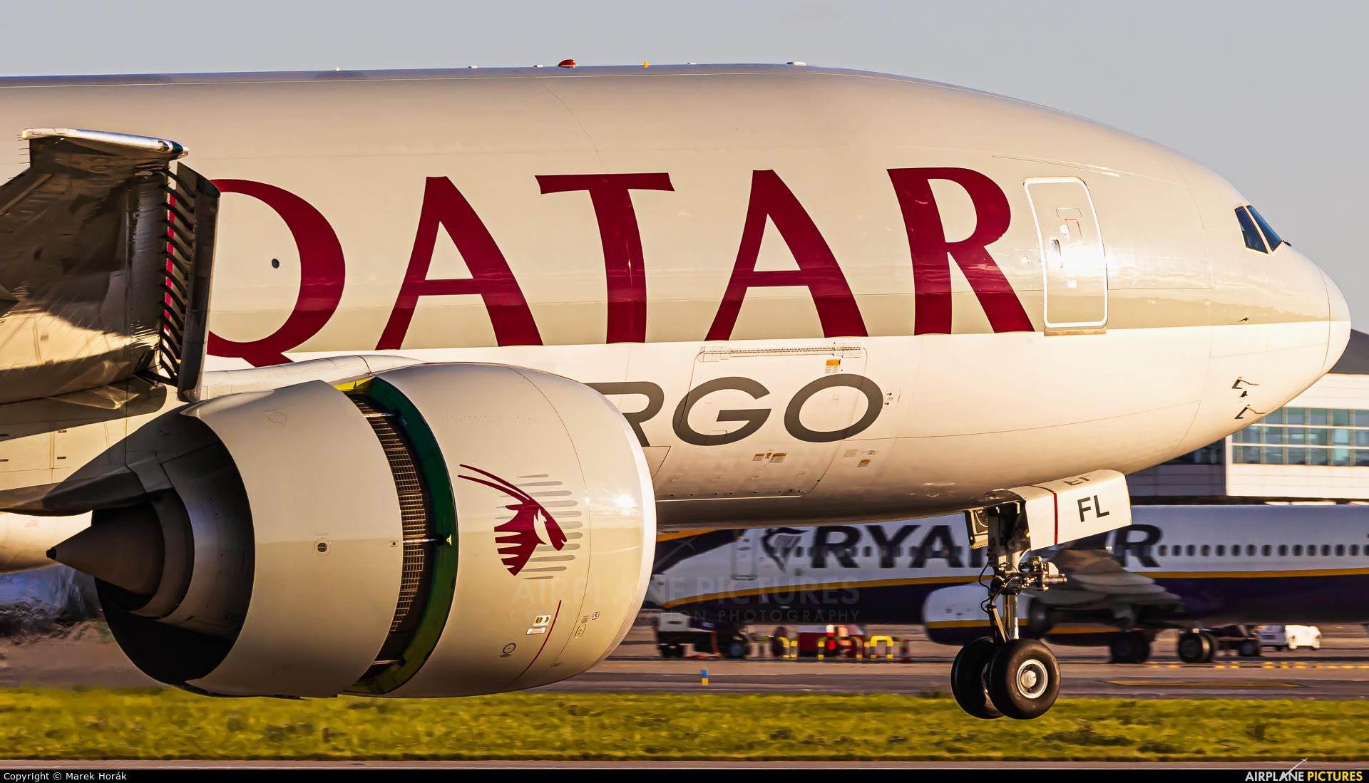 Qatar Airways Cargo A7-BFL aircraft at Prague - Václav Havel