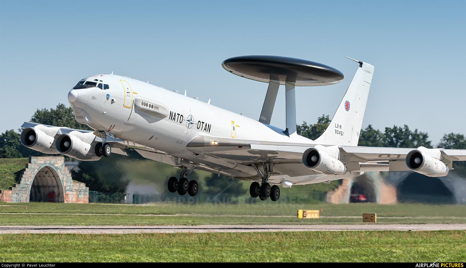 NATO LX-N90451 aircraft at Pardubice