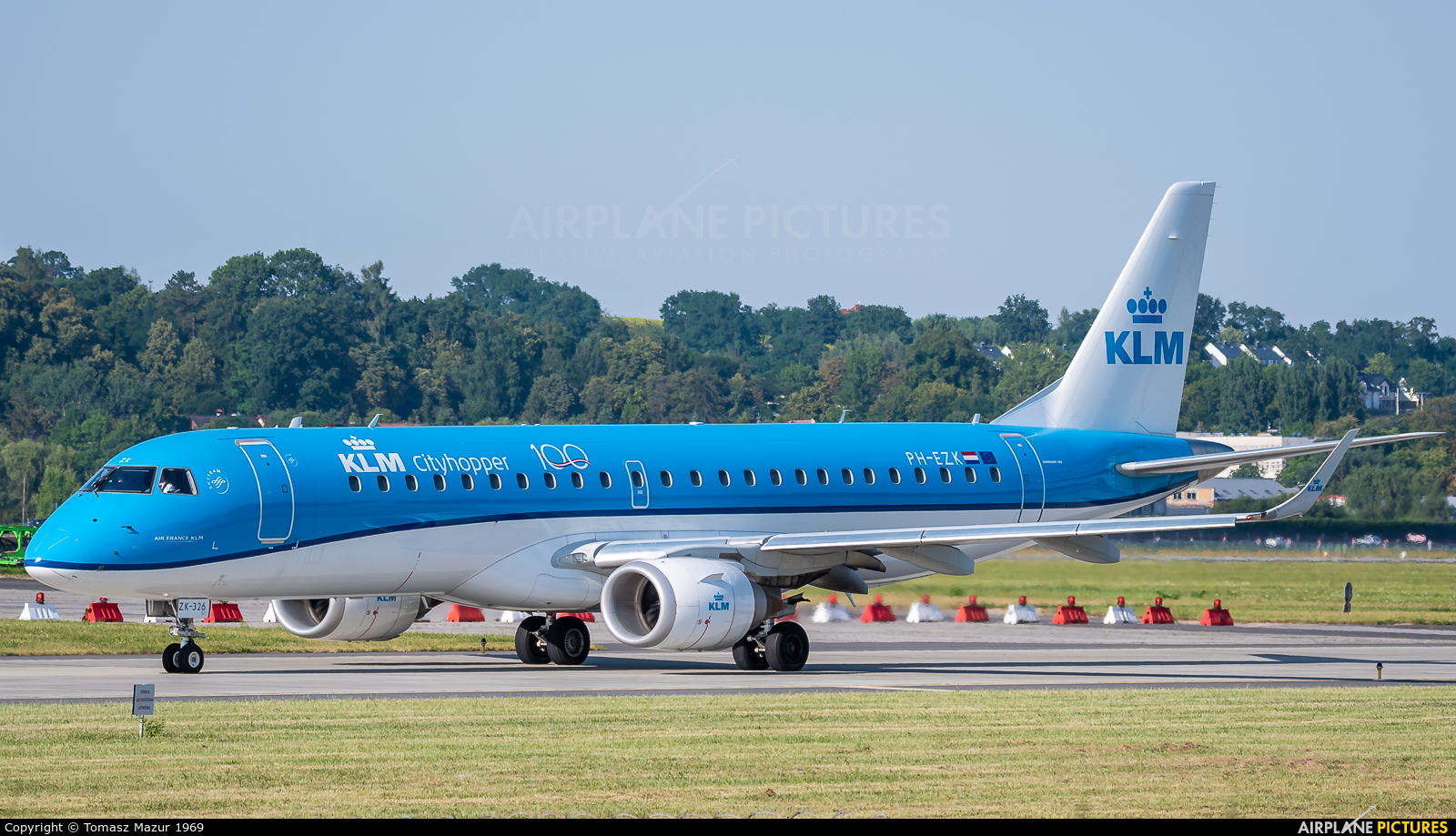 KLM Cityhopper PH-EZK aircraft at Kraków - John Paul II Intl