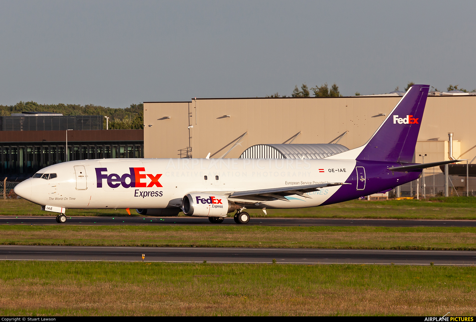 FedEx Federal Express OE-IAE aircraft at East Midlands