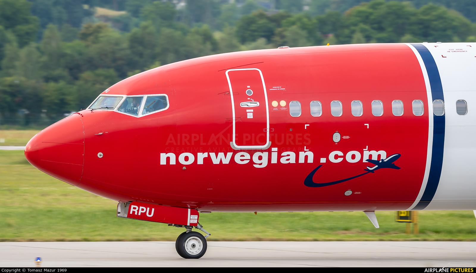 Norwegian Air Sweden SE-RPU aircraft at Kraków - John Paul II Intl