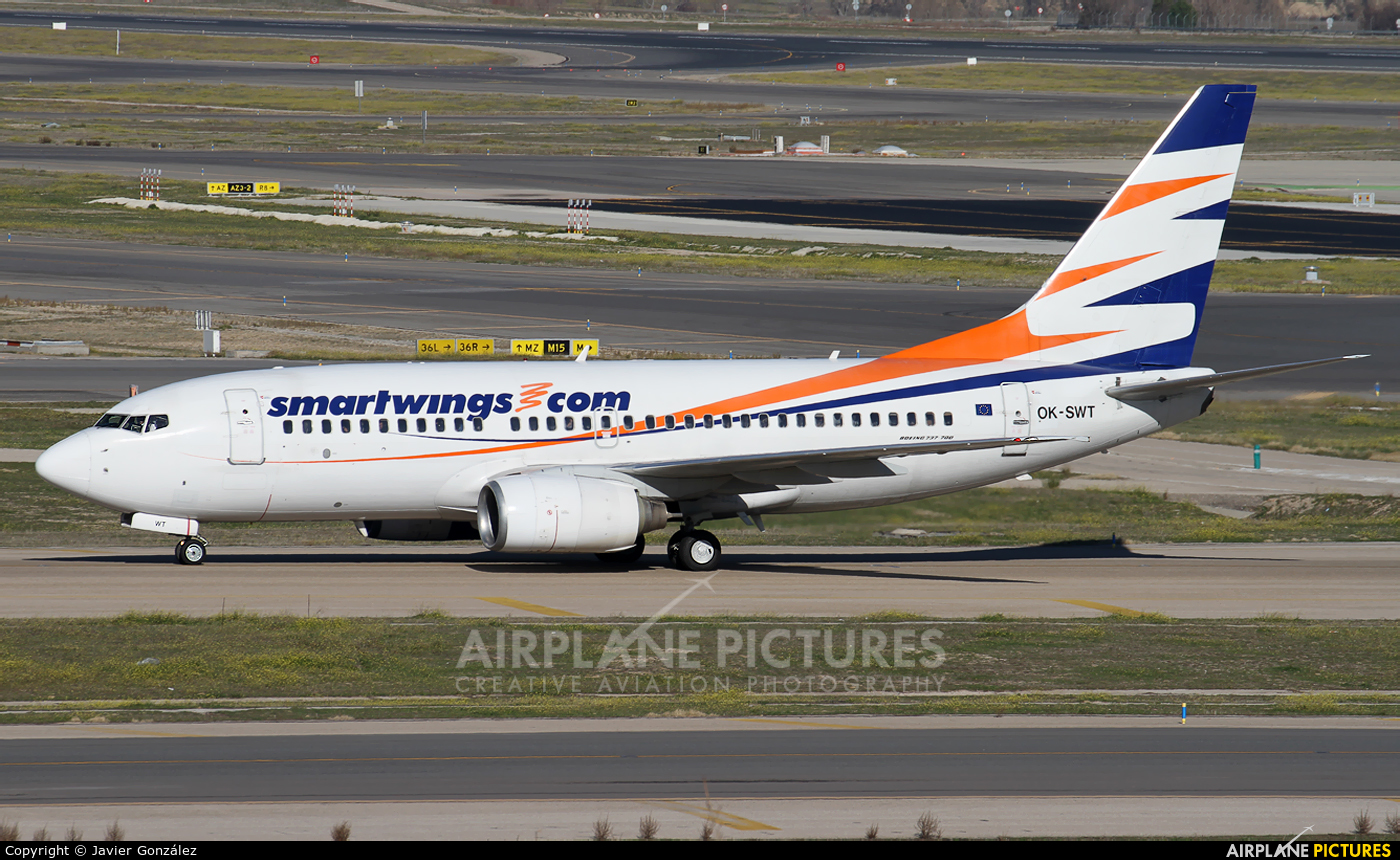 SmartWings OK-SWT aircraft at Madrid - Barajas