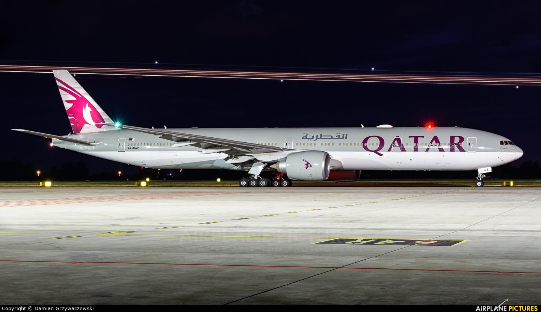 Qatar Airways A7-BAZ aircraft at Warsaw - Frederic Chopin