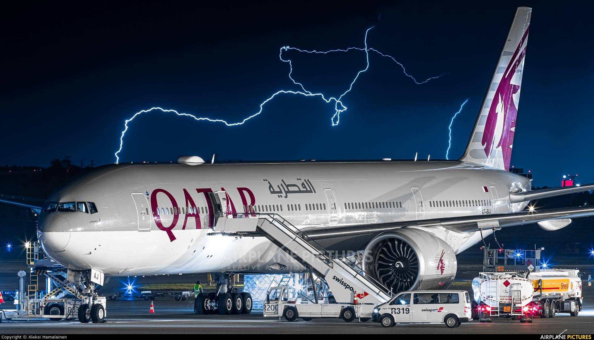 Qatar Airways A7-BAJ aircraft at Helsinki - Vantaa