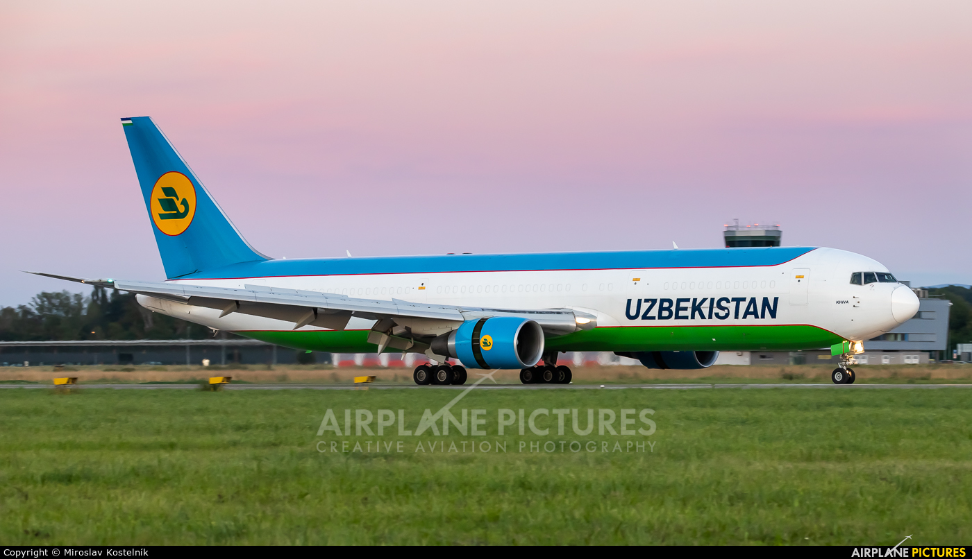 Uzbekistan Airways UK67002 aircraft at Ostrava Mošnov